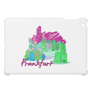 frankfurt city maroon  travel vacation design.png cover for the iPad mini