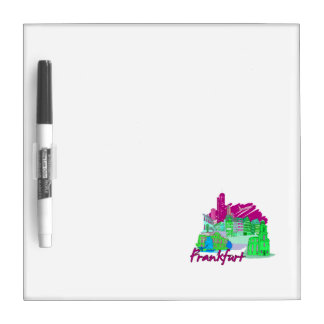 frankfurt city maroon  travel vacation design.png dry erase board