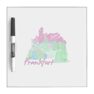 frankfurt city maroon  travel vacation design.png Dry-Erase board