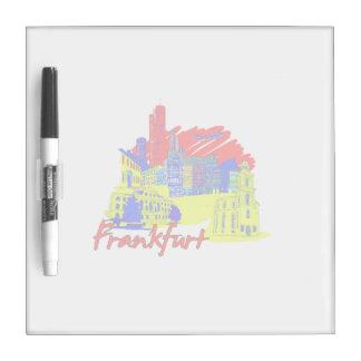 frankfurt city primary  travel vacation design.png Dry-Erase board