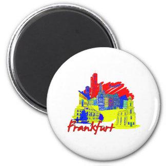 frankfurt city primary  travel vacation design.png magnet