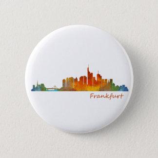 Frankfurt Germany City Watercolor Skyline Hq v1 Button