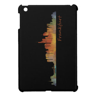 Frankfurt Germany City Watercolor Skyline Hq v1 iPad Mini Cover