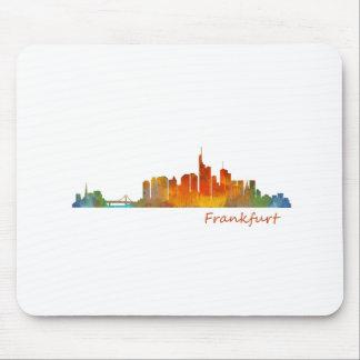 Frankfurt Germany City Watercolor Skyline Hq v1 Mouse Pad