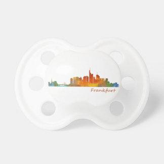 Frankfurt Germany City Watercolor Skyline Hq v1 Pacifier