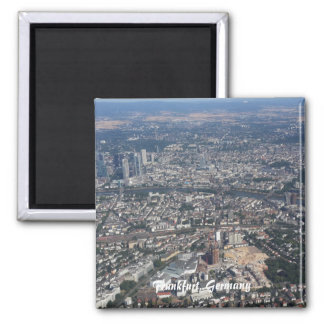 Frankfurt Germany From the Sky 2 Inch Square Magnet