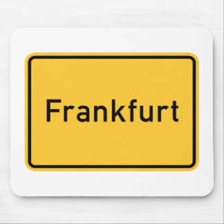Frankfurt, Germany Road Sign Mouse Pad