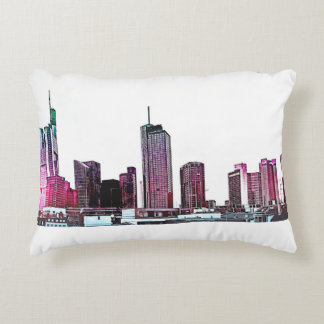 Frankfurt Germany Skyline Architecture Gifts Accent Pillow