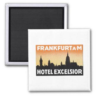 Frankfurt Hotel Excelsior 2 Inch Square Magnet