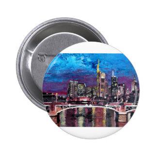 Frankfurt Main Germany - Mainhattan Skyline Pinback Buttons