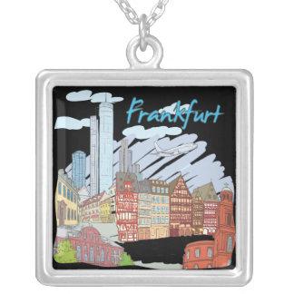Frankfurt Square Pendant Necklace