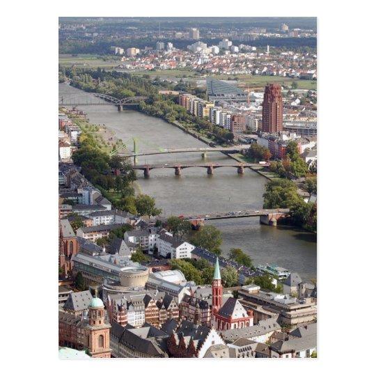frankfurt river postcard