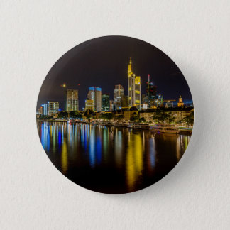 Frankfurt Skyline at Night Pinback Button