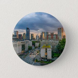 Frankfurt Skyline at Sunset Button