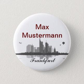 Frankfurt skyline button/Anstecker/pin Pinback Button