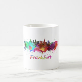 Frankfurt skyline in watercolor coffee mug