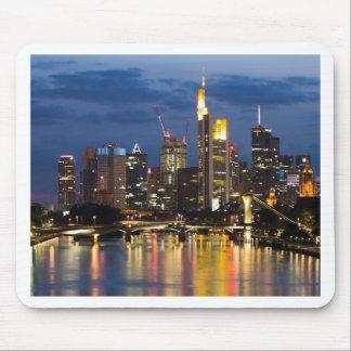 Frankfurt skyline mouse pad