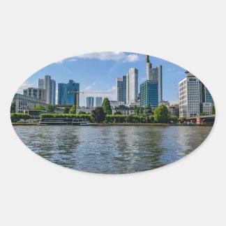 Frankfurt Skyline Oval Sticker