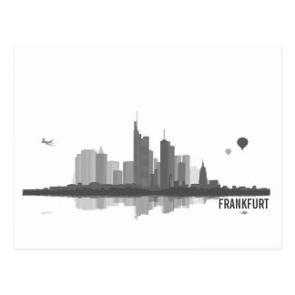 Frankfurt Skyline - Postkarte Grußkarte