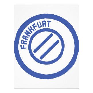 Frankfurt stamp letterhead design