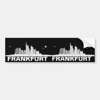 Frankfurt town center of skyline bumper sticker