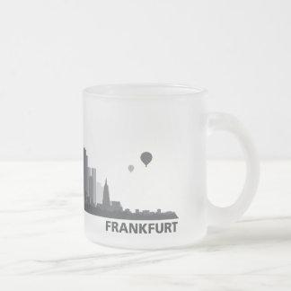 Frankfurt town center of skyline cup/cups coffee mugs