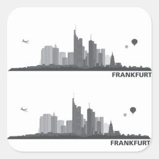 Frankfurt town center of skyline gift idea sticker