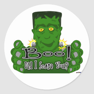 Frankie Boo! Did I Scare You? Classic Round Sticker