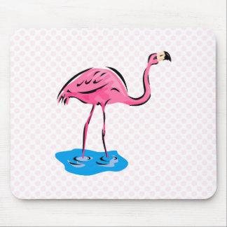 Frankie Flamingo Mouse Pad