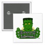Frankie Happy Halloween! Pinback Buttons