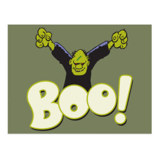 Frankie Monster Superhero Frankenstein Halloween Postcard