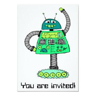 Frankie robot, green on white card