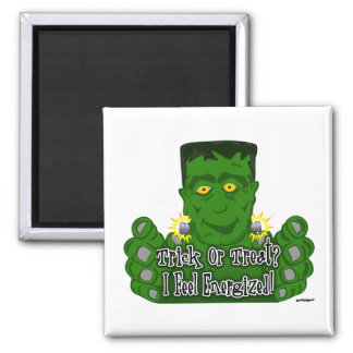 Frankie Trick Or Treat I Feel Energized Refrigerator Magnets