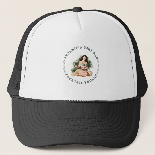 Frankie's Tiki Bar Hula Girl Trucker Hat