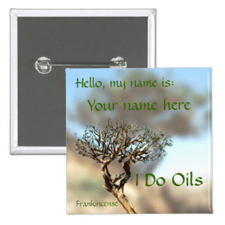 Frankincense Name Tag Pinback Button