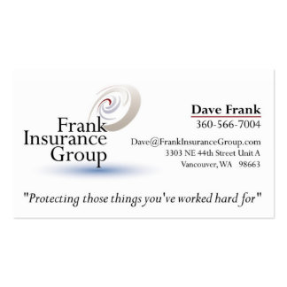 FrankInsuranceGroup 2 Double-Sided Standard Business Cards (Pack Of 100)