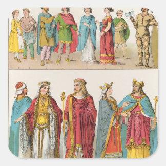 Frankish Dress Square Sticker