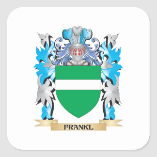 Frankl Coat of Arms - Family Crest Square Sticker