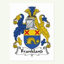 Frankland Family Crest Postcard