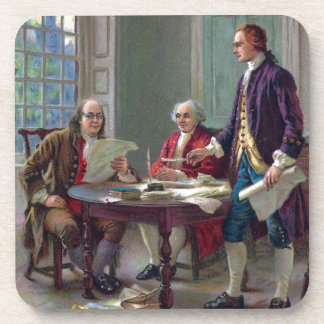Franklin, Adams and Jefferson In Philadelphia 1776 Drink Coaster