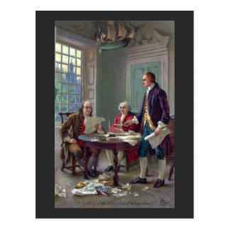 Franklin, Adams and Jefferson In Philadelphia 1776 Postcard