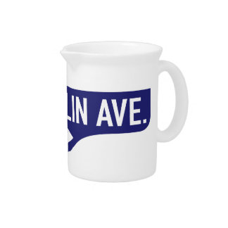 Franklin Avenue, Los Angeles, CA Street Sign Drink Pitcher