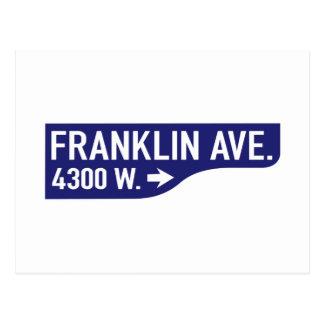 Franklin Avenue, Los Angeles, CA Street Sign Postcard