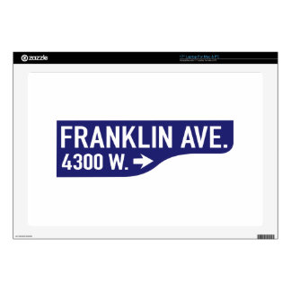 Franklin Avenue, Los Angeles, CA Street Sign Decal For Laptop
