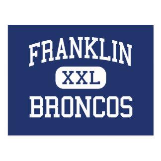 Franklin - Broncos - High - Franklin Virginia Postcard