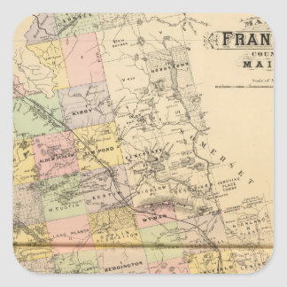 Franklin Co, Maine Calcomanías Cuadradas Personalizadas