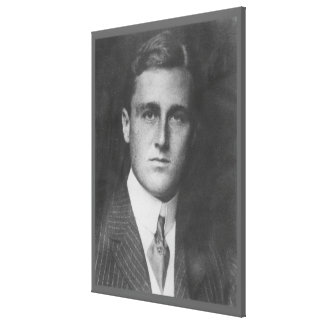 FRANKLIN D. ROOSEVELT 1903 National Archives Photo Canvas Print