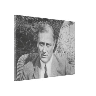 FRANKLIN D. ROOSEVELT 1925 National Archives Photo Canvas Print