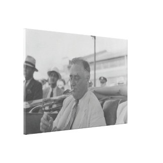 FRANKLIN D. ROOSEVELT 1936 National Archives Photo Canvas Print
