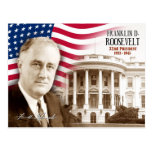 Franklin D. Roosevelt -  32nd President of the U.S Post Card